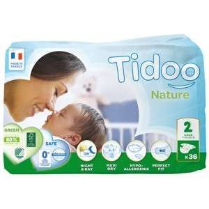 Tidoo 36 couches Nature Eco taille 2 (3-6 kg)