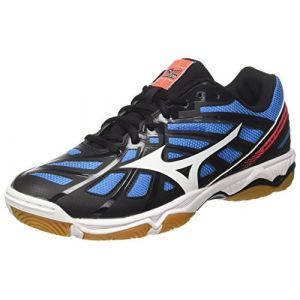 more photos 23fd3 2309f Mizuno Wave Hurricane, Chaussures de Volleyball Homme, Multicolore (Black  White Fierycoral