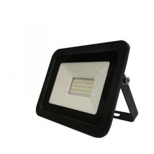Silamp Projecteur LED Extérieur 30W IP65 Noir - Blanc Froid 6000K - 8000K