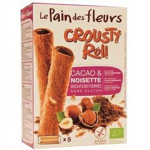 Le pain des fleurs Biscuits Fourrés Cacao Noisette - Crousty Roll Bio 125g
