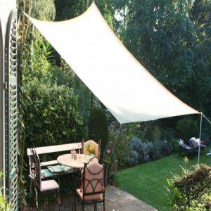 Pegane Voile d'ombrage rectangulaire Gris clair en Polyester 200g/m² anti-UV - Dim : 300 x 250 cm