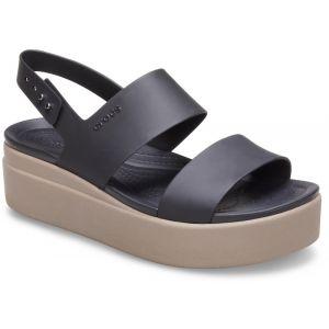Crocs Sandales BROOKLYN LOW WEDGE W Noir - Taille 36 / 37,38 / 39,42 / 43,37 / 38,39 / 40,41 / 42