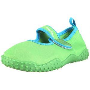 Playshoes Souliers de Sports Aquatiques avec Protection UV Classic, Chaussures pour Piscine et Plage Mixte Enfant, Vert