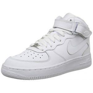 Nike Air Force 1 Mid (Gs), Chaussures de basketball mixte enfant, Blanc, 38