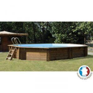 piscine acier imitation bois freedom