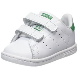 Adidas Stan Smith, Baskets Mixte Enfant, Blanc (Footwear White/Footwear White/Green), 24 EU