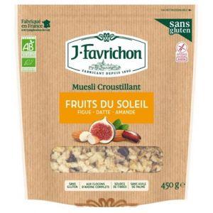Favrichon Muesli croustillant Fruits du soleil Bio 450g