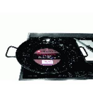 Garcima Poêle à paella acier émaillé pour induction 34 cm