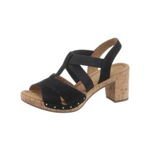 Gabor 22.773 Femme,Sandale à lanières,Sandales,Sandales à lanières,Chaussures d'été,Sandales d'été,Confortables,Comfort-Mehrweite,Pazifik(Kork/Niete),3.5 UK