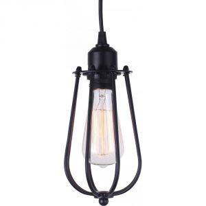 Edison Light Globes Cage - Lampe pendante acier et carbone