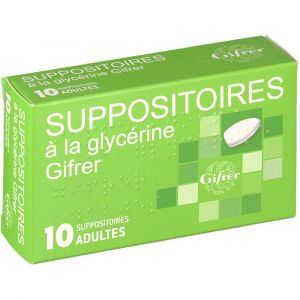 Gifrer barbezat Suppositoires adultes - 10 Suppositoires