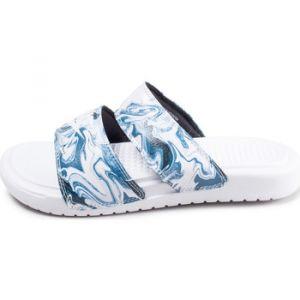 930593fa33189 Nike Soldes - Sandales Sandales Benassi Duo Bleu Et Blanc Femme