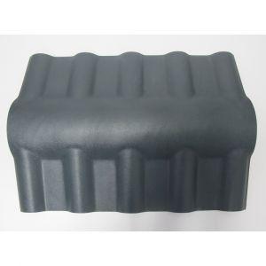 McCover Faîtière PVC pour toiture imitation tuile moderne - Coloris - Gris, Epaisseur - 15cm, Largeur - 43 cm, Longueur - 74 cm Gris - 74 cm / 43 cm / 15cm