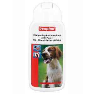 Beaphar Shampooing antiparasitaire anti-puces pour chien à la Perméthrine (200 ml)
