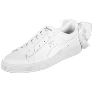 Puma Basket Bow, Sneakers Basses Femme, Blanc White, 39 EU