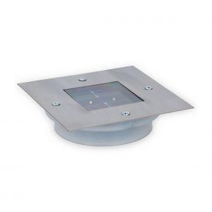 Grundig Spot solaire pour le sol LED carré en acier inoxydable 13x13 cm argent