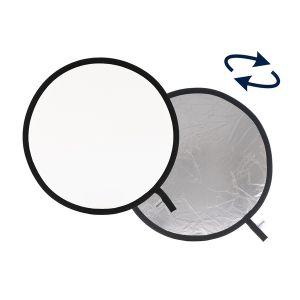 Lastolite Réflecteur rond pliable blanc/argent 50cm - LAS2031