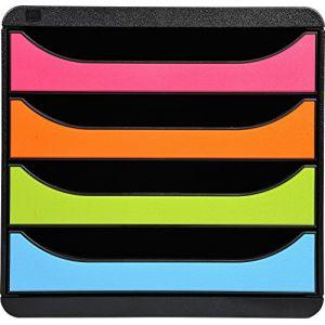 Exacompta 310498D - BIG-BOX, coloris noir/arlequin