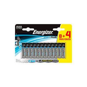 Energizer Pile alcaline AAA - 8 piles LR3 Max plus + 4 offertes