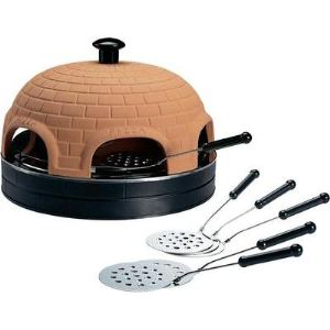 Pizzarette - Four à pizza avec dôme en terre cuite