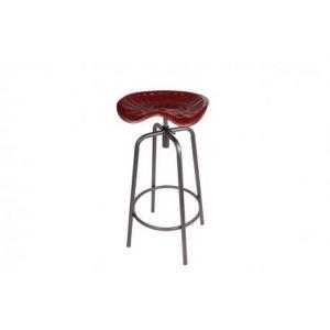 Socadisc Tabouret de bar assise moulée rouge RACING