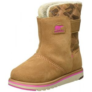 Sorel Children's Rylee Camo, Bottes de Neige Fille, Marron (Elk, Pink Ice), 30 EU