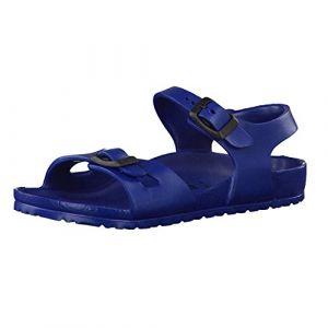 Birkenstock Rio EVA 0126123 Sandales Bleu Marine pour Enfants avec Boucles en Caoutchouc 27