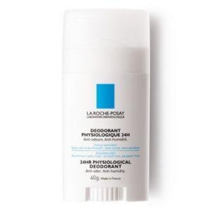 La Roche-Posay Déodorant physiologique 24h - Stick anti-odeurs, anti-humidité