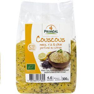 Priméal Couscous Riz, Maïs et Chia Parfumé Citron 300g