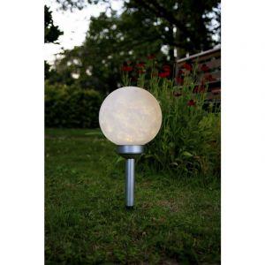 Best Season Boule solaire LED -Luna-,blanche, avec panneau solaire