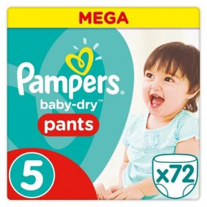 Pampers Baby-Dry Pants taille 5 (11-18 kg) - 72 couches-culottes