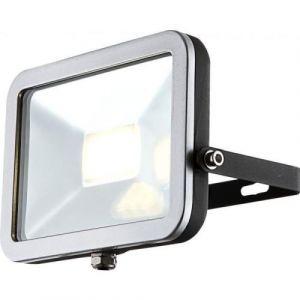 Globo Lighting Projecteur extérieur aluminium fonte gris métallisé gris - Verre translucide - Luminaire extérieur - Ampoule LED incluse- Aluminium - 10W 230V - Fonte gris