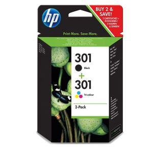 HP CR340EE - Pack cartouches d'encre n°301 noir et couleurs