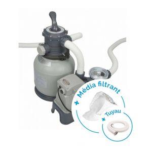 Intex Pack Filtre à sable 6 m³/h - 1/2 CV + Tuyau + Media filtrant