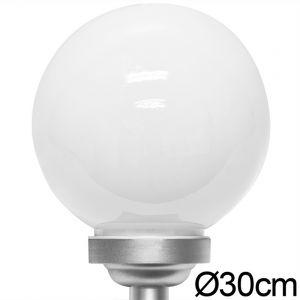 Deuba Lampe sphérique solaire LED ø 30cm - Lumière blanche - Allumage automatique - Piquet de fixation - Design moderne