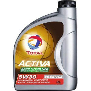 Total Huile moteur Activa Essence 9000F NFC 5W30 Essence et Diesel 2 L