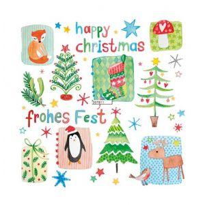 12 serviettes Happy Christmas (33 x 33 cm)