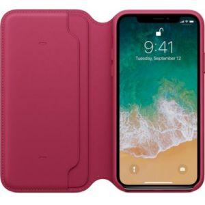 Apple Étui Folio en cuir Fruits rouges iPhone X
