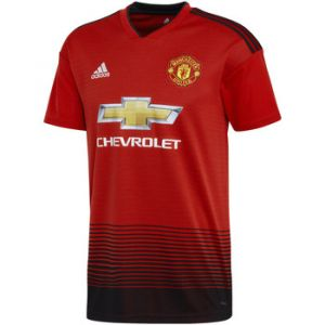 Adidas Manchester United FC Domicile Maillot de Football Homme Real Red, Noir FR : XL (Taille Fabricant : XL)