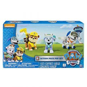 Nickelodeon 6026091 - Pack de 3 Figurines Sac à Dos Transformables - La Pat' Patrouille