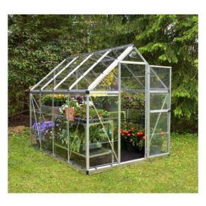 Palram Serre de jardin en polycarbonate Harmony 4,57 m², Couleur Vert, Ancrage au sol Non - longueur : 2m47