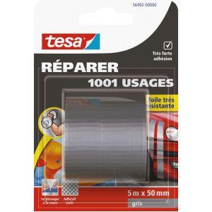 Tesa Adhésif 1001 usages - gris - 5 m x 50 mm - Ruban spécial