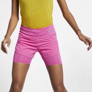 Nike Short de running 2-en-1 Eclipse pour Femme - Rouge - Taille M