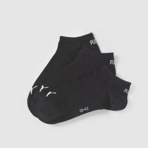 Puma Lot de trois paires de chaussettes pour basket, Noir, Taille 35-38 |