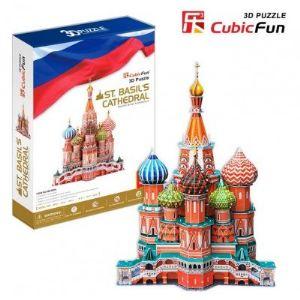 CubicFun Cathédrale Saint-Basile, Moscou - Puzzle 3D 214 pièces