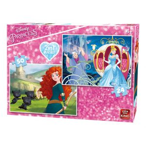 King International 2 puzzles Disney Princess (24 et 50 pièces)