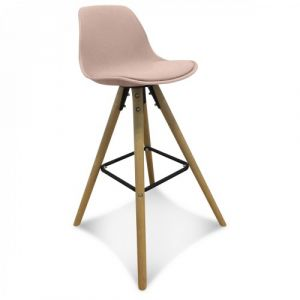 chaise de bar scandinave blush - Chaise Scandinave Rose