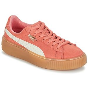 Puma Suede Platform SNK Jr, Sneakers Basses Mixte Enfant, Rose (Shell Pink-Whisper White), 39 EU