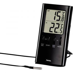Hama Thermomètre LCD T-350, Noir (123143)