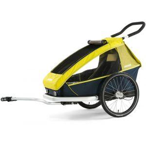 Croozer Kid For 1 - Remorque vélo - jaune/bleu Remorques pour enfant